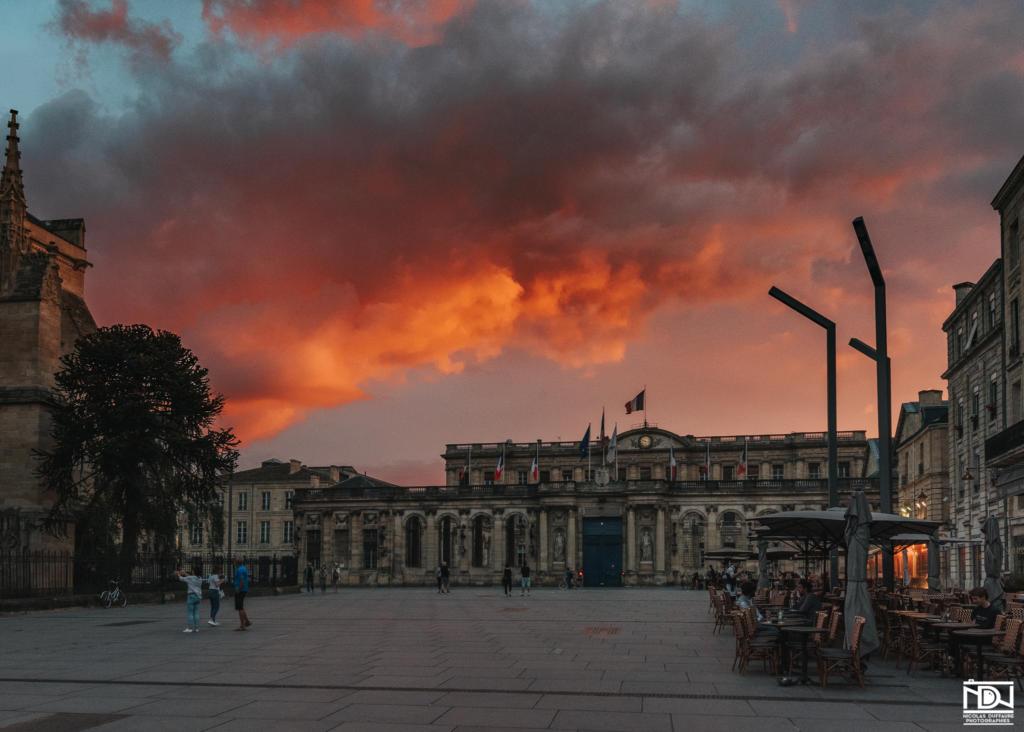 Magnifique ciel Bordeaux sunset
